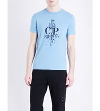 C.P. Company Cp Sailor Graphic Cotton Jersey T Shirt Blue