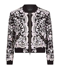 Needle And Thread Embroidery Prairie Bomber Jacket Female Black