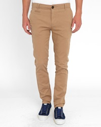 Knowledge Cotton Apparel Beige Stretch Chinos