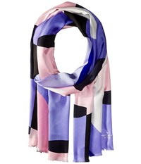 Kate Spade Limelight Silk Oblong Scarf Black Scarves