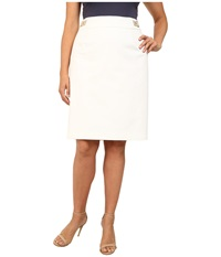 Calvin Klein Plus Plus Size Pencil Skirt W Hardware Soft White Women's Skirt