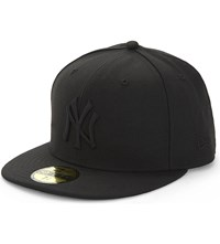 New Era 59Fifty York Yankees Flat Peak Fitted Cap Black