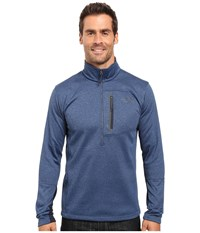 The North Face Canyonlands 1 2 Zip Pullover Shady Blue Heather Men's Sweatshirt