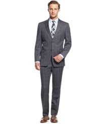 Tommy Hilfiger Grey Plaid Slim Fit Suit