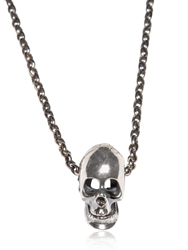Emanuele Bicocchi Skull Charm And Silver Necklace