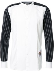 Education From Youngmachines Pleated Front Shirt White