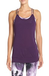 Alo Yoga Women's Alo 'Lia' Back Drape Tank Purple Pennant Smoke Print