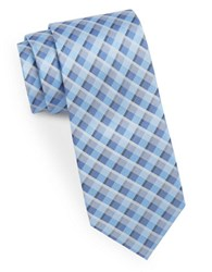 Calvin Klein Narrow Silk Tie Blue