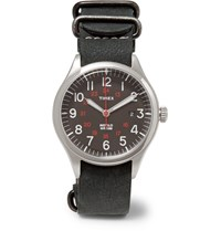 Timex Waterbury United Stainless Steel And Nubuck Watch Midnight Blue