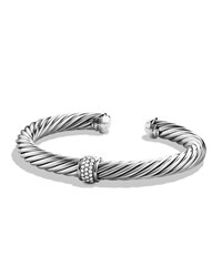 Cable Classics Bracelet With Diamonds And White Gold David Yurman White Gold