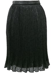 Carven Sequined Pleated Skirt Grey