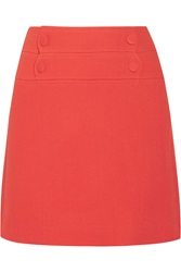 Paul And Joe Lyoka Wool Blend Crepe Mini Skirt