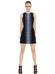 David Koma Swarovski Crystals Crepe Dress
