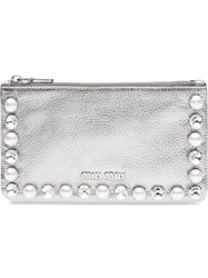 Miu Miu Madras Envelope Pouch Metallic