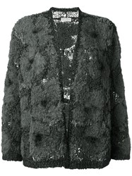 Brunello Cucinelli Tweed Cardigan Grey