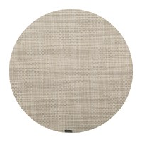 Chilewich Mini Basketweave Round Placemat Linen