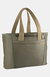 Briggs And Riley Men's 'Large Baseline' Shopping Tote Green Olive