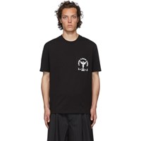 Mcq By Alexander Mcqueen Black Free Your Soul T Shirt