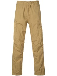 Orslow Pull On Cargo Trousers Brown