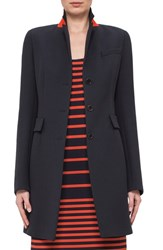Women's Akris Punto Stand Collar Wool Jacket