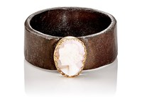 Julie Wolfe Women's Cameo Cigar Band Gold