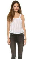Burning Torch Ritual Embroidered Top White