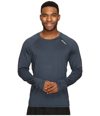 2Xu Urban Long Sleeve Top Ombre Blue Marle Gecko Green Men's Clothing