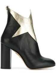Charlotte Olympia 'Galactica' Ankle Boots Black