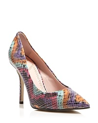 Moschino Cheap And Chic Moschino Cheap And Chic Pointed Toe Pumps Snake Print High Heel Multi