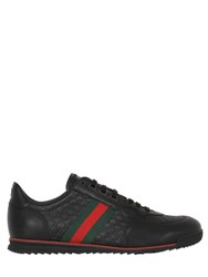 Gucci Sl73 Gg Embossed Leather Sneakers