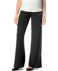 A Pea In The Pod Maternity Wide Leg Lounge Pants Heather Charcoal