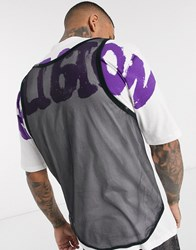 Religion T Shirt With Mesh Back And Graffiti Logo In White