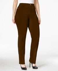 Styleandco. Style And Co. Plus Size Tummy Control Slim Leg Jeans Only At Macy's Rich Truffle