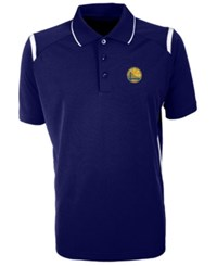 Antigua Golden State Warriors Merit Polo Shirt Blue