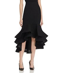 Gracia Fluted Trumpet Skirt Compare At 122 Black