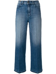 Notify Jeans Cropped Denim Flares Blue