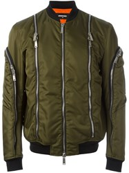 Dsquared2 Zip Detail Bomber Jacket Green