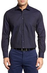 Toscano Men's Pin Dot Jacquard Sport Shirt
