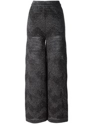 M Missoni Elasticated Waistband Straight Trousers Black