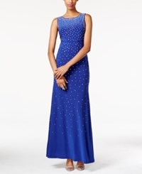 As U Wish Juniors' Jeweled Illusion V Back Gown