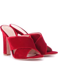 Gianvito Rossi Exclusive To Mytheresa.Com Velvet Sandals Red