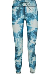 The Upside Printed Stretch Jersey Leggings Blue