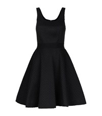 Pinko Structured Mesh Skater Dress Female Black