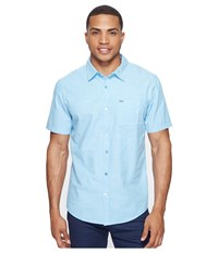 Hurley One Only S S Woven Shirt Vivid Sky Men's Short Sleeve Button Up Blue