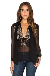 Twelfth St. By Cynthia Vincent Scarf Tie Blouse Black