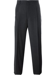 E. Tautz Pleated Trousers With Belt Loop Grey