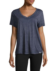 Marc New York Short Sleeved V Neck Tee Deep Navy