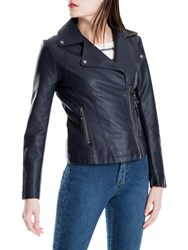 Max Studio Biker Jacket Navy
