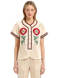 Gucci Embroidered Acetate Duchesse Shirt