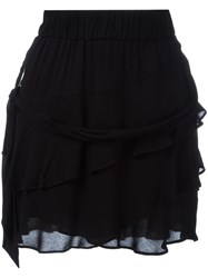 Iro Tiered Ruffle Skirt Black